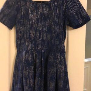 Beautiful lulu roe metallic blue dress
